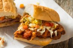 Sandwich à la viande pané fait maison de Chicago photos stock