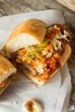 Sandwich à la viande pané fait maison de Chicago photo libre de droits