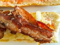 Sandwich à lard photo stock