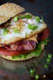 Sandwich à lard et à oeufs photographie stock libre de droits