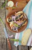 Sandwich à maquereau Photo libre de droits