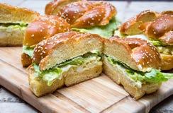 Sandwich à oeufs Photo libre de droits
