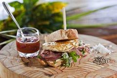 Sandwich à oeufs et à lard Image stock
