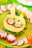 Sandwich à Pâques pour l'enfant Photos libres de droits