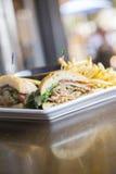 Sandwich à pain de viande Photos stock