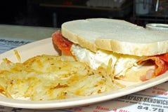 Sandwich à petit déjeuner de lard et d'oeufs Image stock