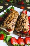 Sandwich à petit déjeuner photographie stock libre de droits