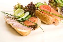 Sandwich à poissons image stock