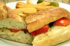 Sandwich à poulet Photographie stock