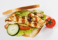 Sandwich à poulet grillé photos libres de droits