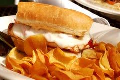 Sandwich à poulet grillé image stock
