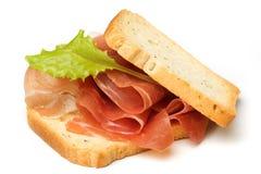 Sandwich à Prosciutto Photos libres de droits