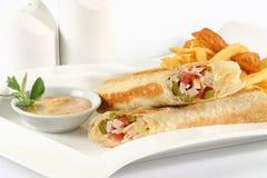 Sandwich à roulis de la Turquie Photographie stock