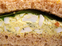 Sandwich à salade d'oeufs Images libres de droits