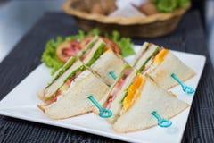Sandwich à salade d'oeufs Photographie stock libre de droits