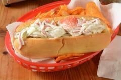 Sandwich à salade de crabe Images libres de droits