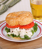 Sandwich à salade de poulet Photographie stock libre de droits