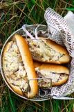 Sandwich à salade de thon de jardin Style rustique Photos stock