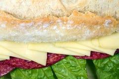 Sandwich à salami Image stock