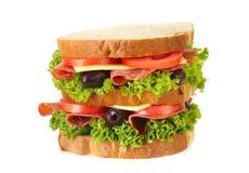 Sandwich à salami photo stock