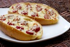 Sandwich à saucisse Image libre de droits