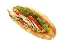 Sandwich à sous-marin de sein de Turquie Photos stock