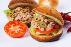 Sandwich à thon Photos libres de droits