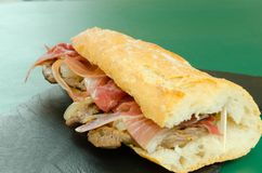 Sandwich à veau de Brascada image libre de droits