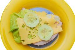 Sandwich à viande et à fromage suisse Images libres de droits