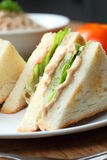Sandwich. Tuna sandwiches being served fresh Royalty Free Stock Image