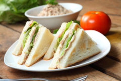 Sandwich. Tuna sandwiches being served fresh Royalty Free Stock Images