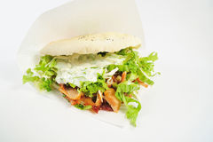 Sandwich on the white background Stock Photography