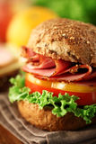 Sandwich. A fresh deli sandwich with tomatoes Royalty Free Stock Image