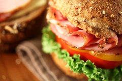 Sandwich. A fresh deli sandwich with tomatoes Stock Photography