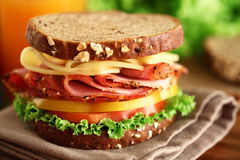 Sandwich. A fresh deli sandwich with tomatoes Royalty Free Stock Photos