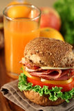 Sandwich. A fresh deli sandwich with tomatoes Stock Images