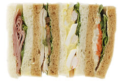 Sandwich. Some kind of sandwich on white background stock photography