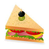 Sandwich. Vector illustration on white background Stock Photos