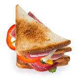 Sandwich. On the white background Royalty Free Stock Photos