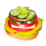 Sandwich. On the white background Royalty Free Stock Images