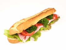 Sandwich. Fast food arranged on white background Stock Images