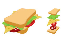 Sandwich. Royalty Free Stock Photo