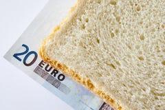 Sandwich of euros Stock Photos