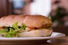 Sandwich. Very apetitny, crispy, beautiful sandwich royalty free stock photography