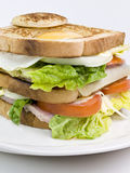 Sandwich. With egg, cheese and vegetables Royalty Free Stock Photography