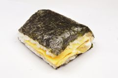 Sandwich. Japnese sandwich,rice and seaweed Stock Photos