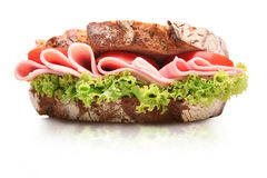 Sandwich. Big sandwich on white background stock images