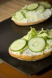 Sandwich. With cucumber and cottage Stock Image