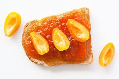 Sandwich with apricot jam Royalty Free Stock Image