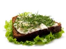 sandwich aromatique à herbes de fromage Images libres de droits